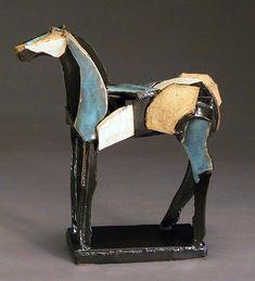 Slab Built Horse: Jeri Hollister: Ceramic Sculpture - Artful Home