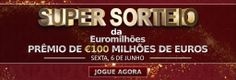 Super sorteio da #loteria européia #Euromillions nesta sexta, 06/06/2014! Serão 100 milhões de euros em prêmio!