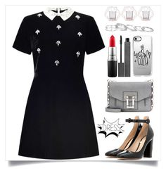 """New Year Eve Party"" by itsybitsy62 ❤ liked on Polyvore featuring Miss Selfridge, Proenza Schouler, Bloomingville, Gianvito Rossi, Casetify, Burberry, MAC Cosmetics, Kendra Scott and under100"