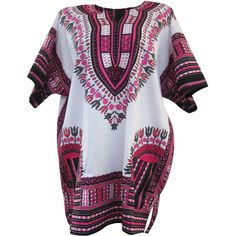 White African Dashiki, White Dashiki Shirt, Unisex Top Dress, Plus... ($22) ❤ liked on Polyvore featuring dresses, tops, dresses/rompers, tees, hippy dress, white day dress, white dress, pocket dress and white hippie dress