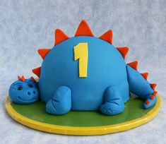 Cake Blog: Little Dinosaur Cake Tutorial