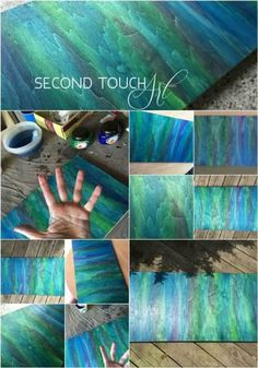 Second Touch Art - Susi Schuele's original practice board using Unicorn SPiT Stain & Glaze in One