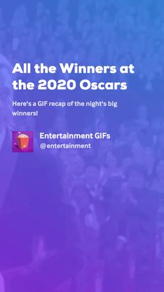 Here's a GIF recap of the night's big winners! Movie Gifs, Oscar Winners, Entertaining, Hipster Stuff, Funny