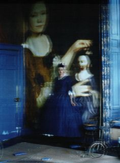 Tim Walker // Projections of 18th- and 19th-Century Society Portraits onto the Walls of Glemham Hall for W