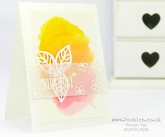 Stampin' Up! Demonstrator Pootles - Case a Demo - Alisa Tilsner and Watercolour Wash Happy Birthday Gorgeous with May Flowers framelits