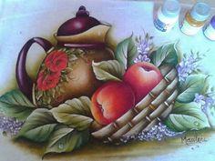 Pintura em tecido - cobre fogão por Marilene dos Santos - face