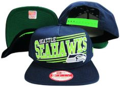 Seattle Seahawks Solid Navy Adjustable Snapback Hat/Cap New Era. $29.99