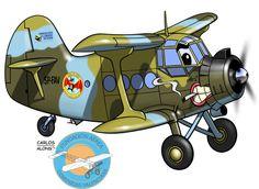 Fundación Aérea de la Comunidad Valenciana Cartoon Plane, Alonso, Aviation Art, Fiat, Caricature, Planes, Baby Strollers, Aircraft, Cartoons