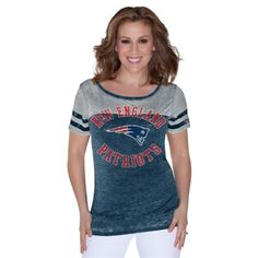New England Patriots Touch by Alyssa Milano Ladies Morgan T-Shirt – Navy Blue