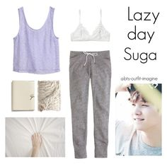 lazy day with suga by bts-outfit-imagine on Polyvore featuring polyvore art simple kpop korean bts Suga