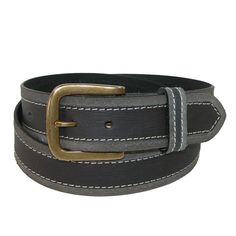 Paul & Taylor Mens Big & Tall Two Tone Bridle Belt with Removable Buckle