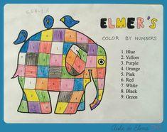 ELMER colores en inglés. Del Aula de Elena.