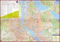 Подробная карта Риги с улицами
