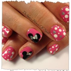 Shellac nails WHERES MICKEY!!! #mickeymousenails #nails #nailart #beauty