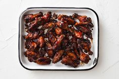 Napkins at the ready? These seriously sticky and sweet chicken wings were made for a boys night in.