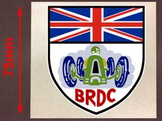 "BRDC BRITISH RACING DRIVER CLUB VINTAGE - STICKER 2"" / 75mm - BA074"