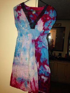 UpCycled Large Ice TieDyed Dress on Etsy, $25.00