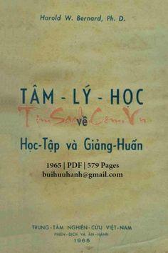 Tâm Lý Học Về Học Tập Và Giảng Huấn (NXB Sài Gòn 1965) - Harold W. Bernard, 579 Trang   Sách Việt Nam