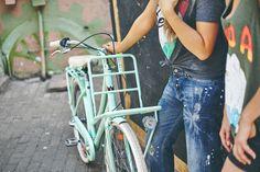 #Lekker #Bikes #Bicycles #Jordaan #Pastel #Green #Blue #Candy #Red #Classic #Black #Matt #Dutch #Retro #Vintage #City #Cruiser #Womens #Mens #7speed