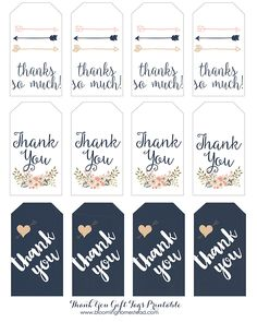 FREE printable thank you tags, perfect for any occasion.
