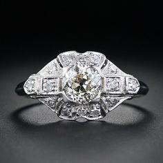 .80 Carat Late Art Deco Diamond Engagement Ring