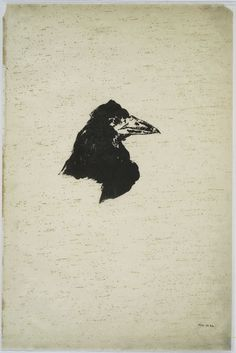 Illustrations for Edgar Allan Poe's The Raven by Edouard Manet (1875)