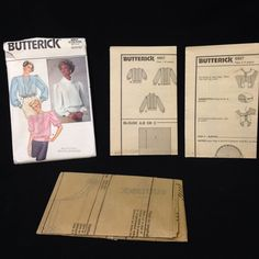 Uncut Butterick Pattern 6957 Misses Blouse Loose Tucks Blouson 8 10 12 VTG 80s