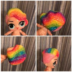 Look at this custom painted LOL Surprise Doll! Her hair color is a beautiful rainbow! ♥️