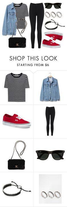 """Sin título #13591"" by vany-alvarado ❤ liked on Polyvore featuring T By Alexander Wang, Gap, Vans, Miss Selfridge, Chanel, Ray-Ban, Links of London and ASOS"