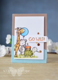 Lostinpaper - Neat & Tangled - Wild Ones (card video) 1 Kids Cards, Baby Cards, Neat And Tangled, Kids Birthday Cards, Animal Cards, Wild Ones, Prismacolor, Cardmaking, Diy Crafts