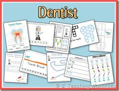Dentist Preschool Unit (free printables) from 2 Teaching Mommies