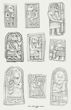 """På alle de smykker og våben, som henholdsvis kvinder og mænd bar i den germanske jernalder, kunne man finde en ganske særegen dekorationsform. """"Dyreornamentik"""" kalder man den almindeligvis, fordi den først og fremmest bestod af dyrefigurer i en næsten endeløs variation."""