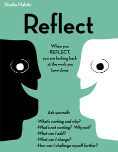 Studio Habits of Mind-Reflect                                                                                                                                                                                 More