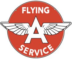 Flying A Service 23w Inch Metal Sign Powder Coated USA Made Vintage Style Retro Garage Art Free Shipping 21-17 by HomeDecorGarageArt on Etsy