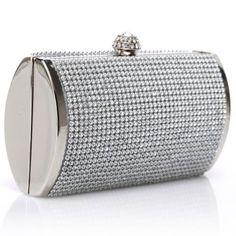 Womens Purses  : US Luxury Silver Rhinestone