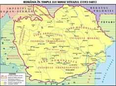 Romania, during the rule of Michael the Brave / Romania in timpul domniei lui Mihai Viteazul History Page, History Facts, World History, Family History, History Of Romania, Romania Map, 27 Mai, Sea Peoples, Visual Map