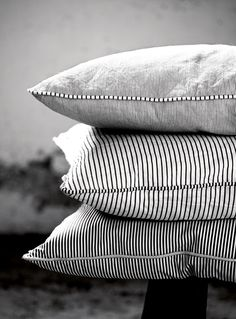 Pinstripe Cushions in Black or Grey & White Tine K Home @ www.designvintage.co.uk