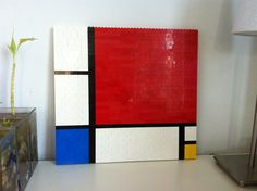 Another Piet Mondriaan, (Dutch painter) painting recreated with Lego.