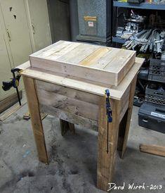 wood pallet cooler stand, pinterest