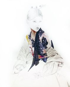 Illustration of a photo from Vogue, still unfinished, for more follow on Instagram @lcfashionsketches
