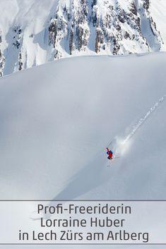 Profi-Freeriderin Lorraine Huber erzählt über ihre Leidenschaft - das Freeriden in Lech Zürs am Arlberg in Vorarlberg #lechzuers #freeriden #visitvorarlberg #myvorarlberg