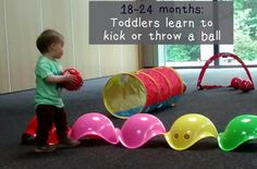 child development at 18-24 months: toddlers start to learn ball skills