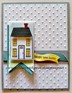 Sweet little banner card made with Holiday Home stamp set - Stampin' Up! Independent Demonstrator, Gwen Edelman, Create with Gwen