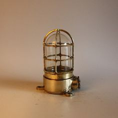Vintage Brass Roundwire Long Wall Light