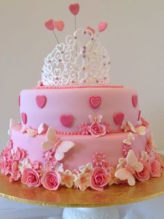 Pretty In Pink Birthday Cake One Of My Creations For Operation Sugar
