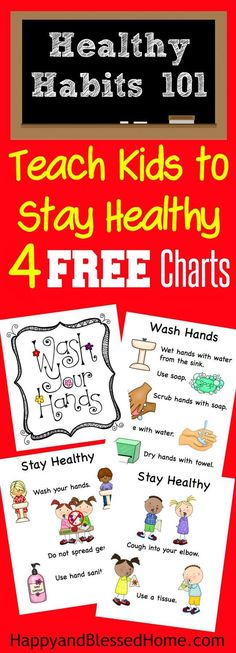 5 Tips for Keeping Kids Healthy and FREE Stay Healthy Printables includes a 5 step chart for washing hands, & 5 tips for keeping everyone healthy in school - printables by HappyandBlessedHome.com #SamsClubMag AD | free printables | early education | healthy habits | wash hands | preschool | kindergarten | elementary | teachers | homeschool