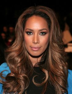 Cascading curls: Leona made an impact with her voluminous hair while she kept her makeup simple