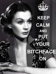 no one does the bitchface quite like Miss Scarlett OHara