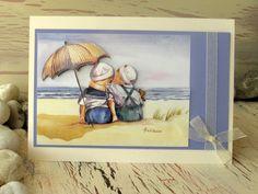 Birthday Card 8 x 6 Two Little Boys Seaside Card by 4SeasonCards, €6.50