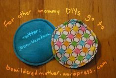 DIY fleece and flannel nursing pads